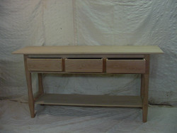 cherry sideboard with three drawers