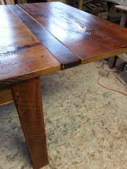 Reclaimed timber leg