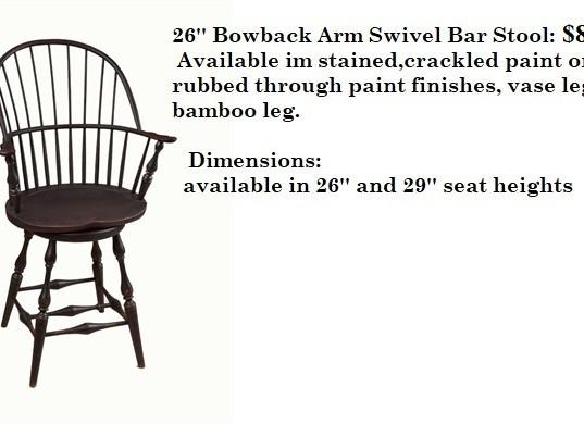 26 Bowback Arm Swivel Bar Stool no price