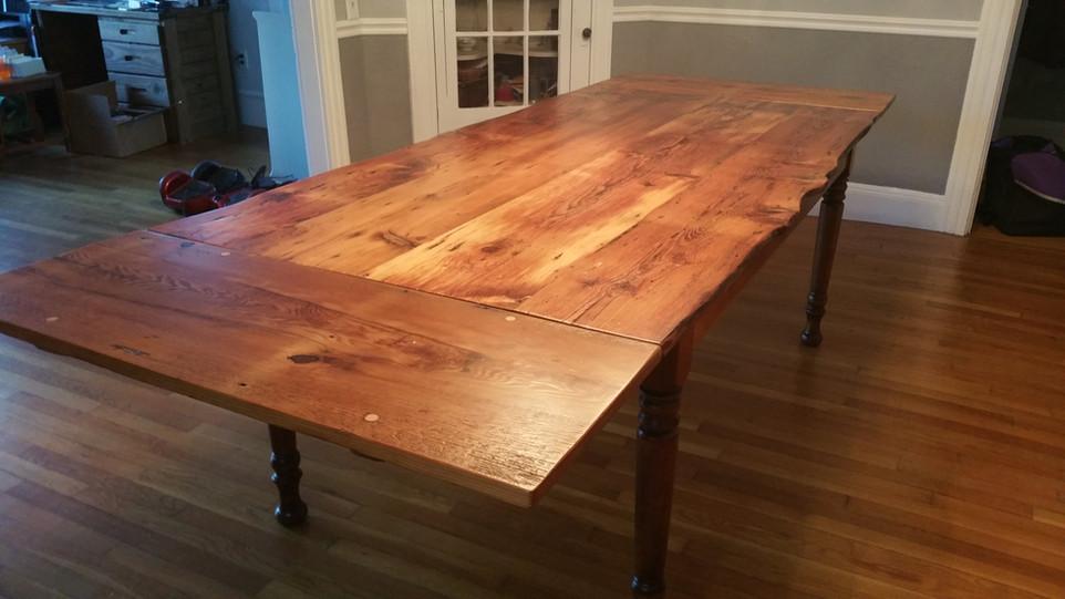 Natural top farm table