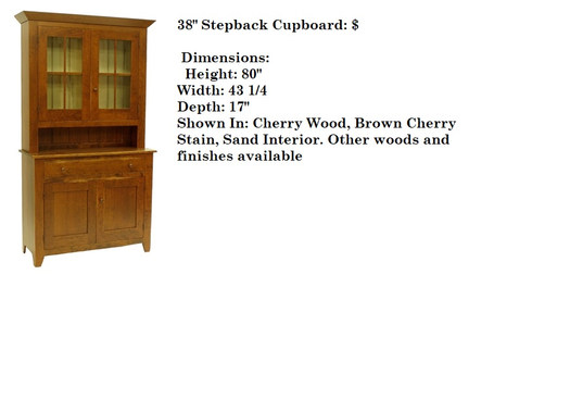 38 inch  Stepback Cupboard
