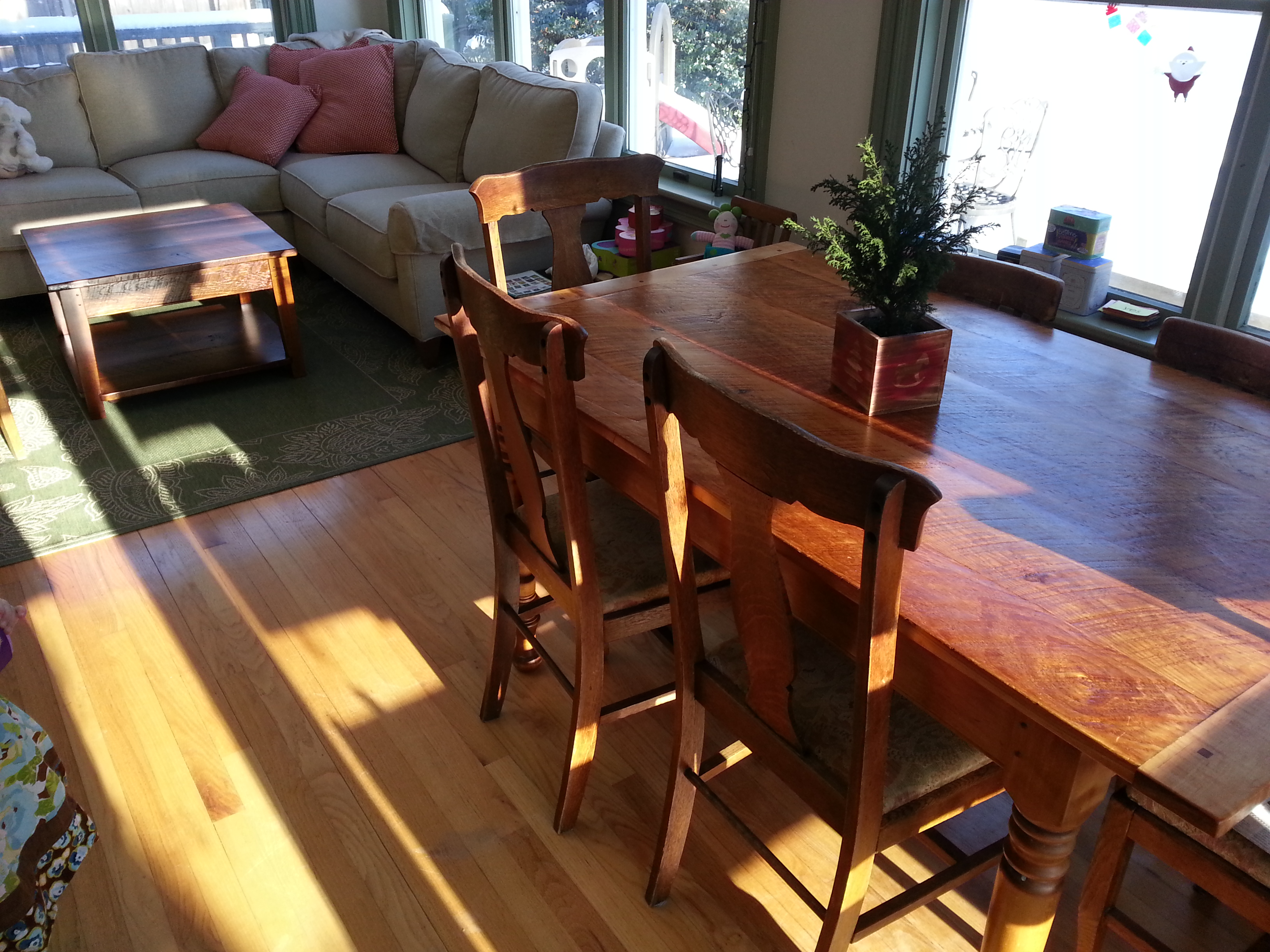 Rustic Pine dining table # 3A