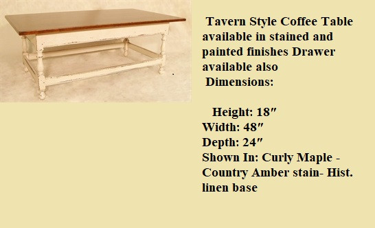 Tavern base coffee table