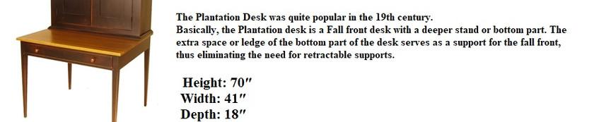 Plantation writing desk