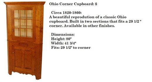 Ohio Corner Cupboard