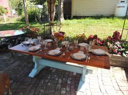 """Black Forest"" trestle table"