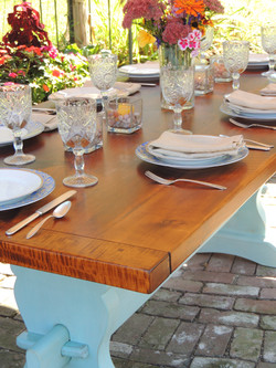 """Thick """"Rustic"""" Pine top trestle"""