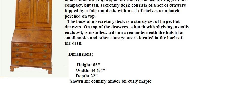 flat top secretary