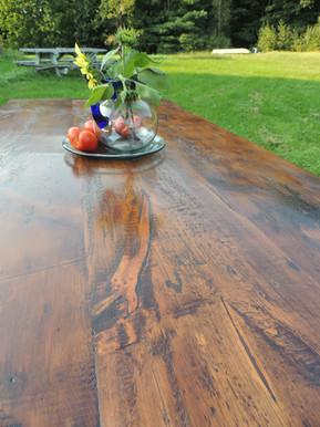 Reclaimed wood top Farm Tables