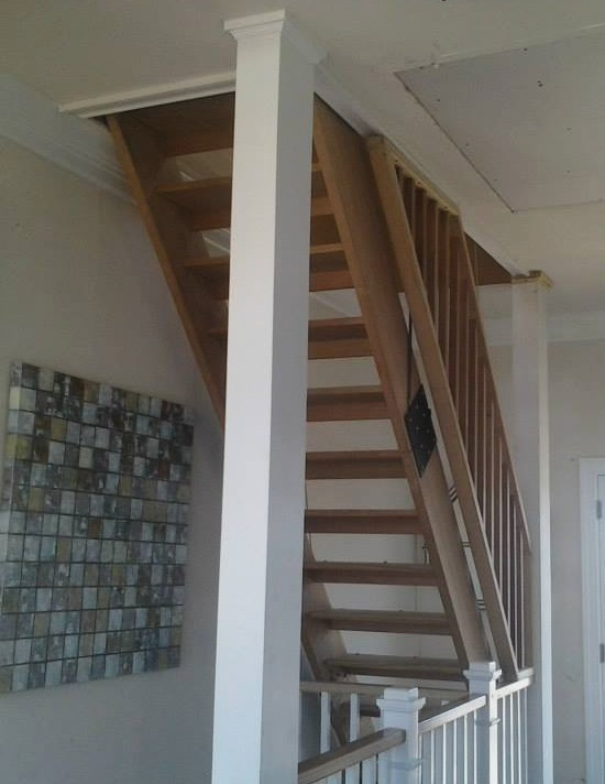 Custom drop down staircase