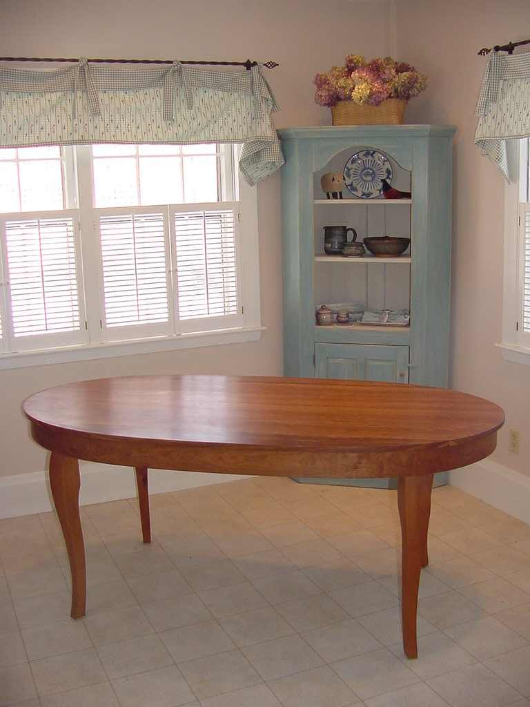 Solid Cherry oval table