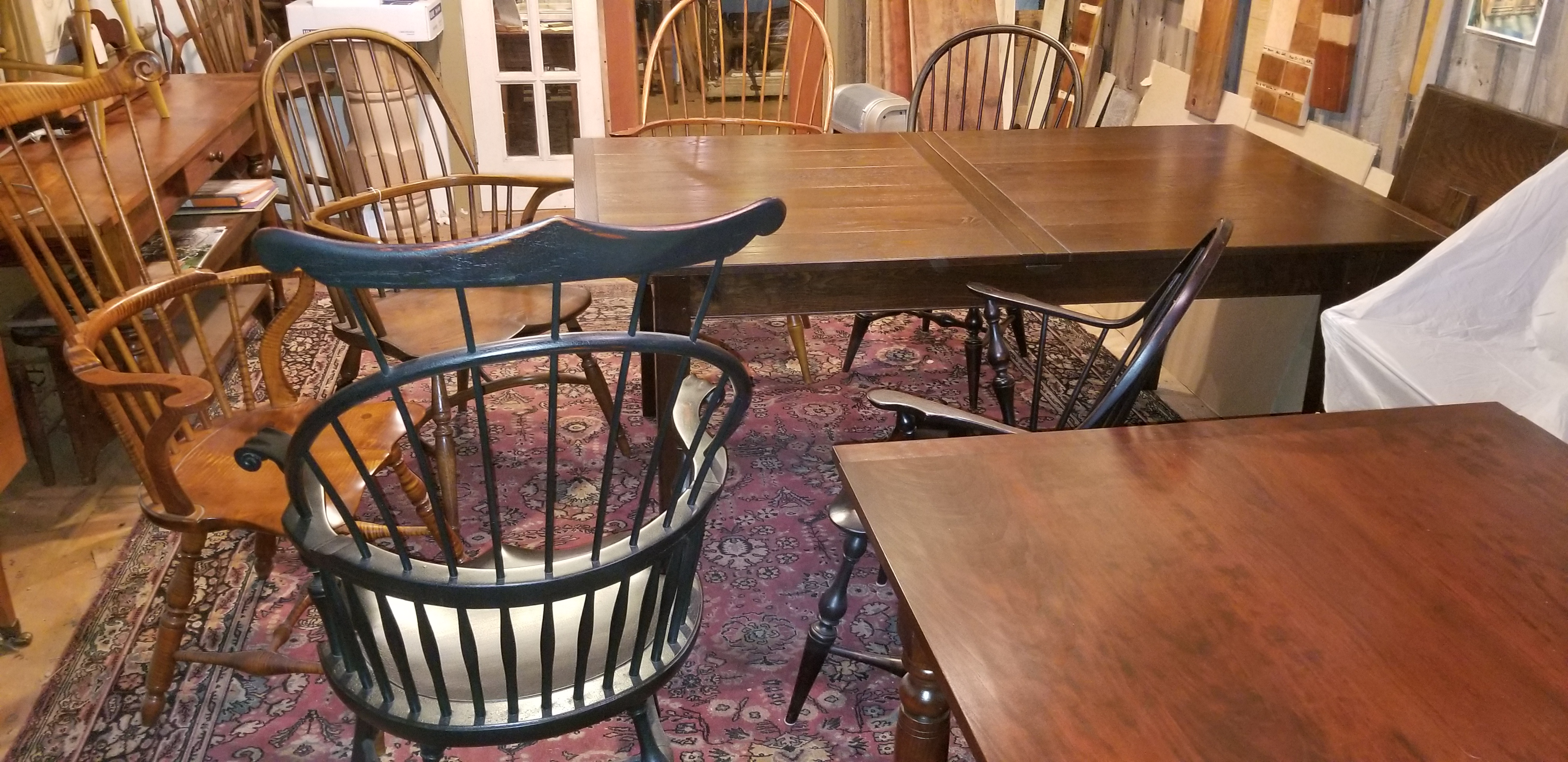 Oak and Cherry Center leaf tables