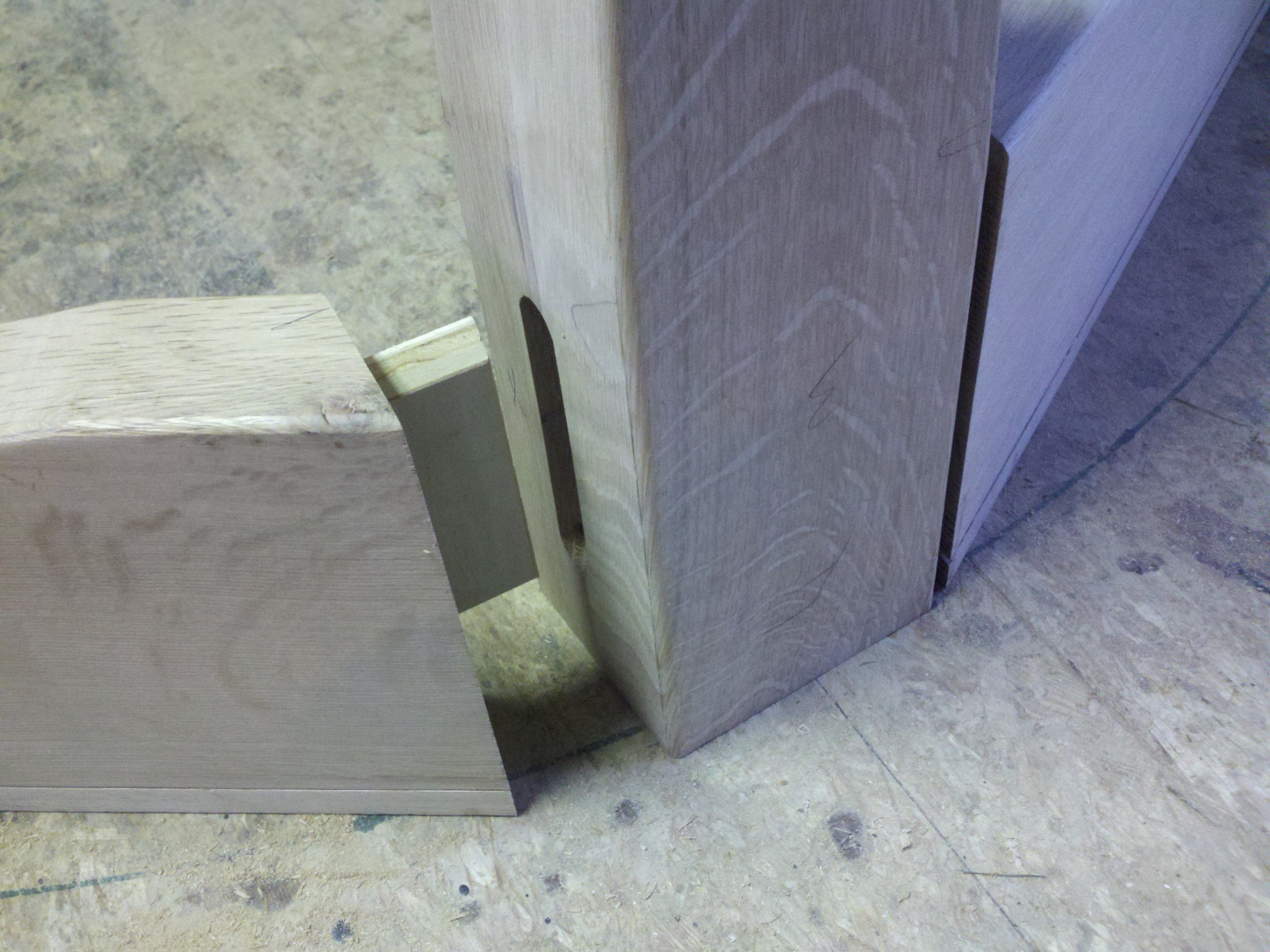 Complex angle joint
