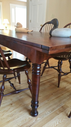 """""""sto-away"""" table leg and top detail"""