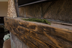 Rustic beam for mantle