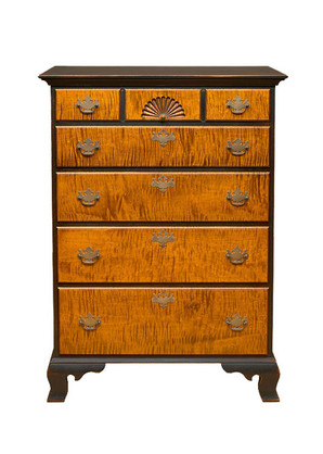 5 drawer Chippendale chest