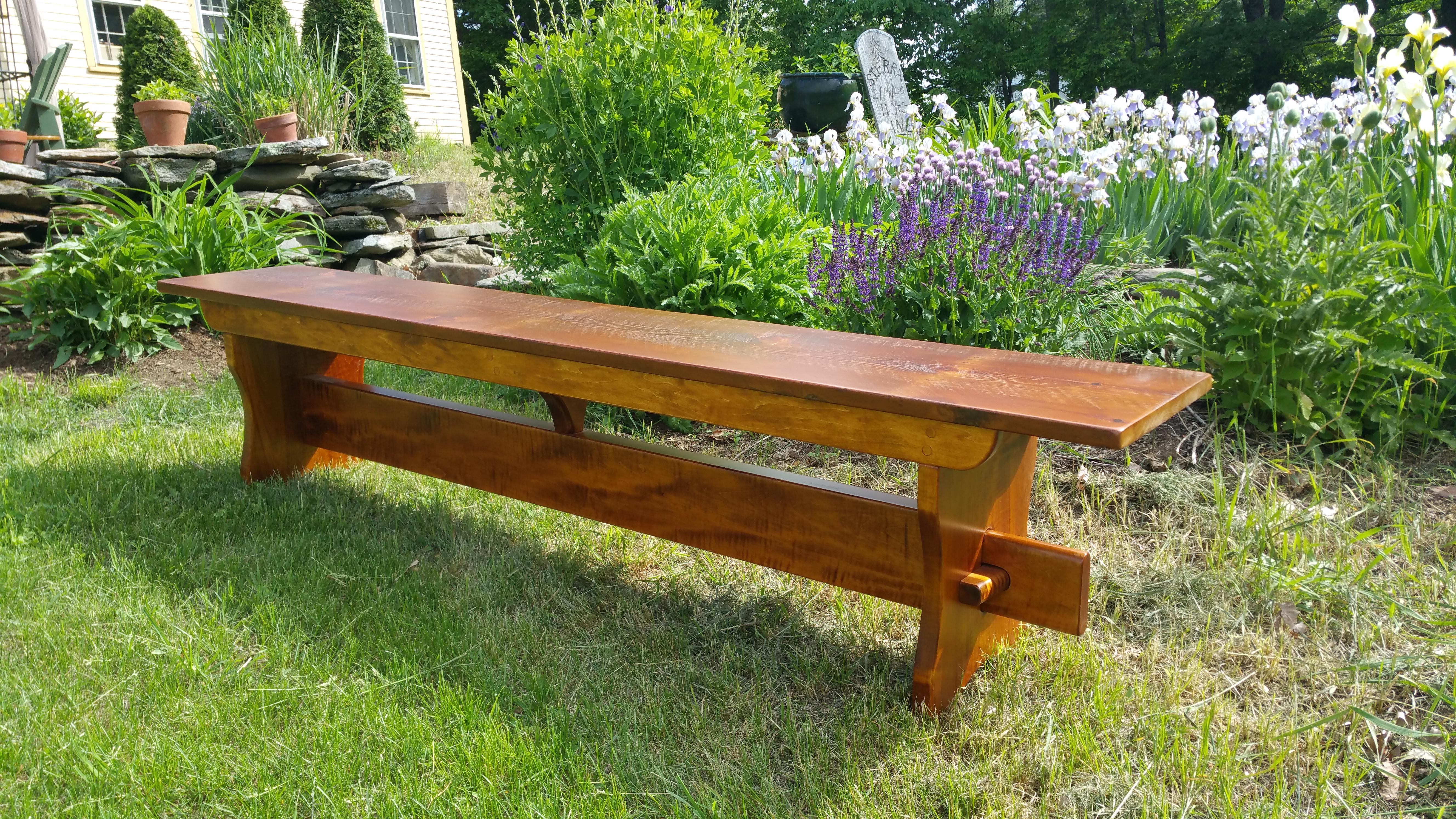 Rustic Pine top bench