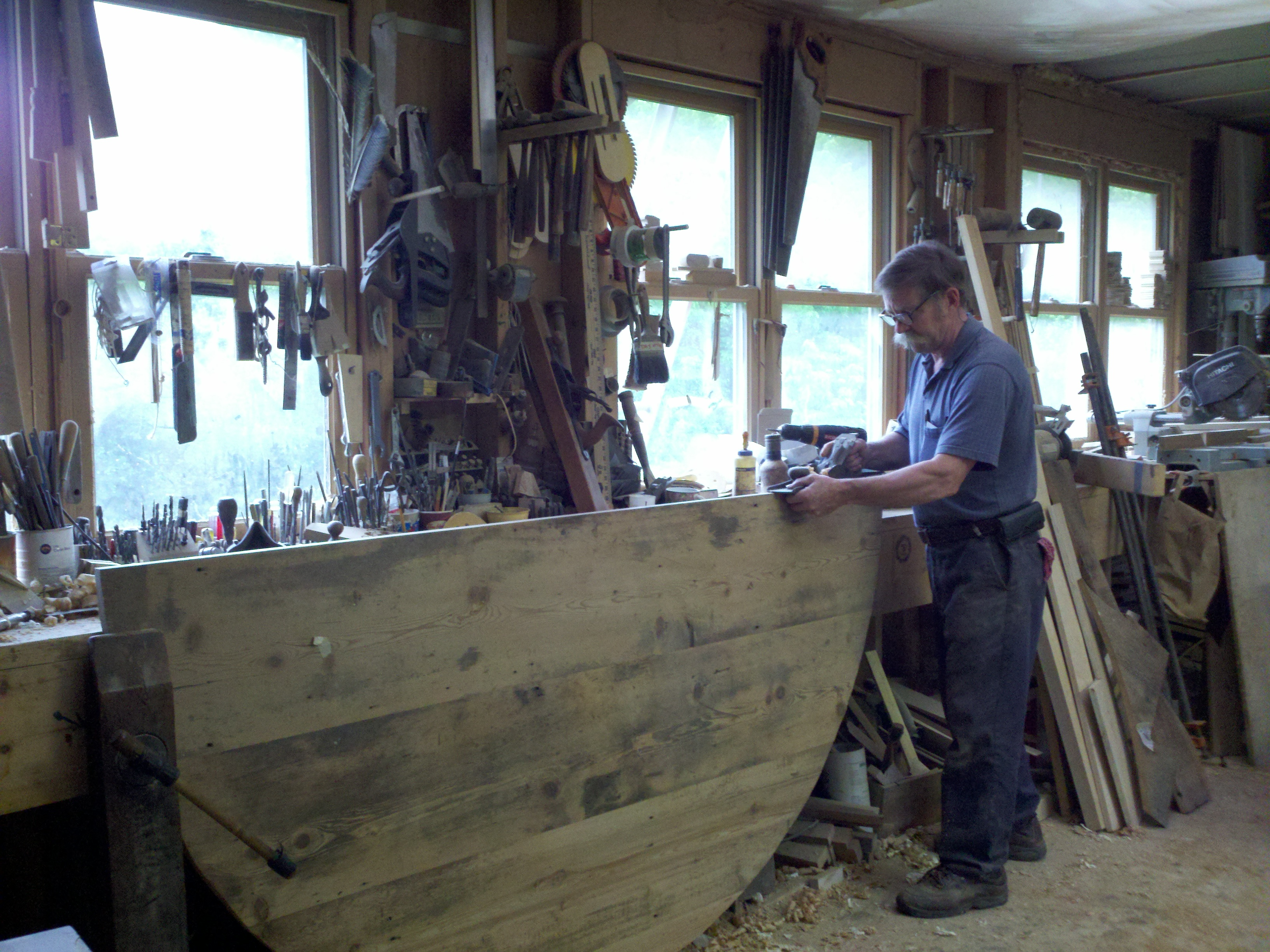 Using a jointing plane