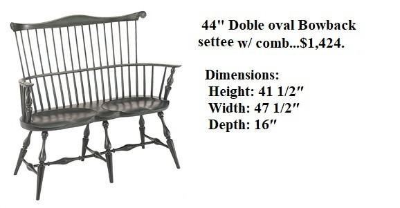 44  Double Oval Settee w Comb