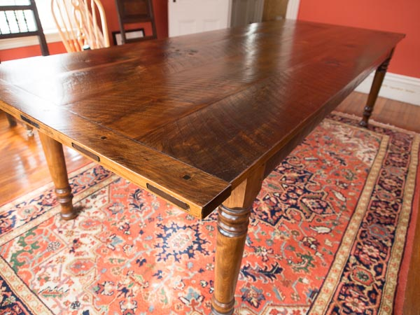 Rustic Pine farm table # 2A