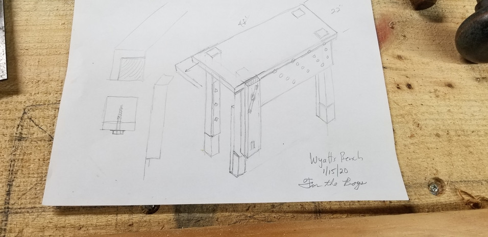 Boy's workbench drawing