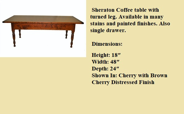 SHERATON COFFEE TABLE_