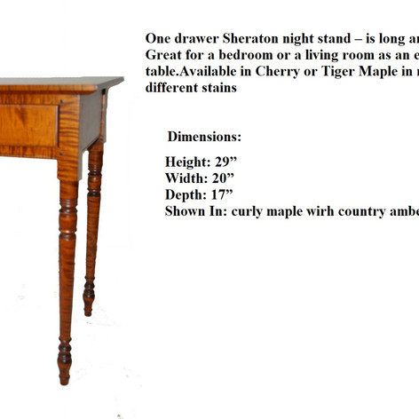 One drawer Sheraton night stand