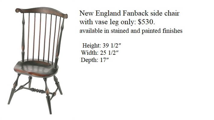 New England Fanback side chair