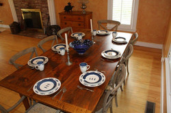 Aged Pine top table #7