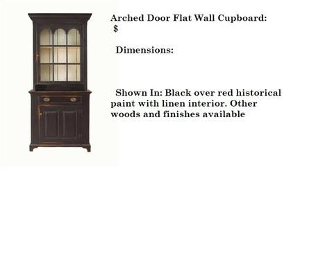 Arched Door Flat Wall Cupboard