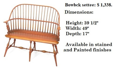 44 inch bowback settee