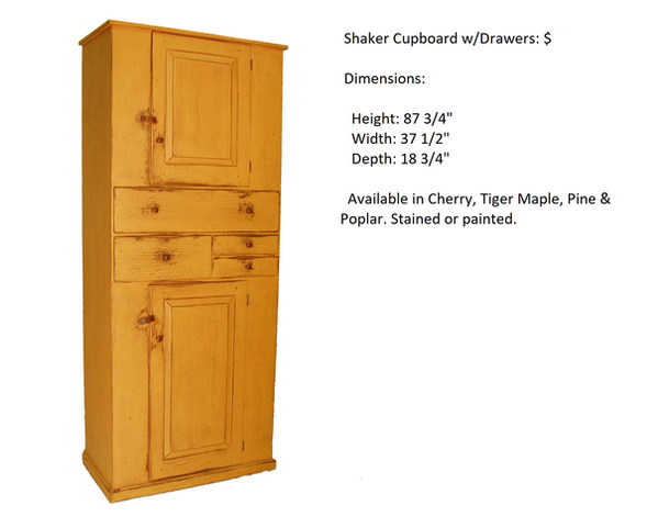 shaker cupboard with drawers