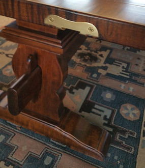 Handmade trestle tables
