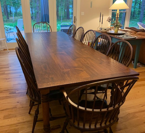 Hand Planed Red Pine table