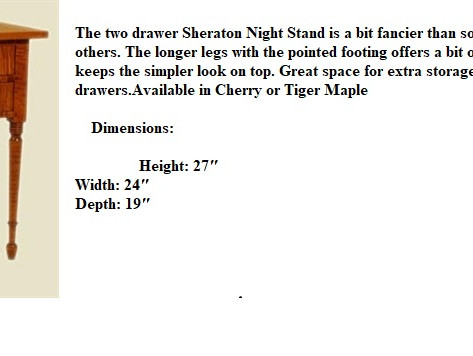 Two drawer Sheraton night stand_