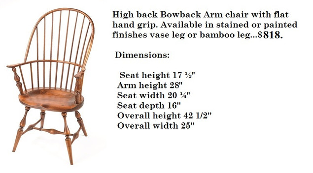 High Back Bowback Arm chair with carved