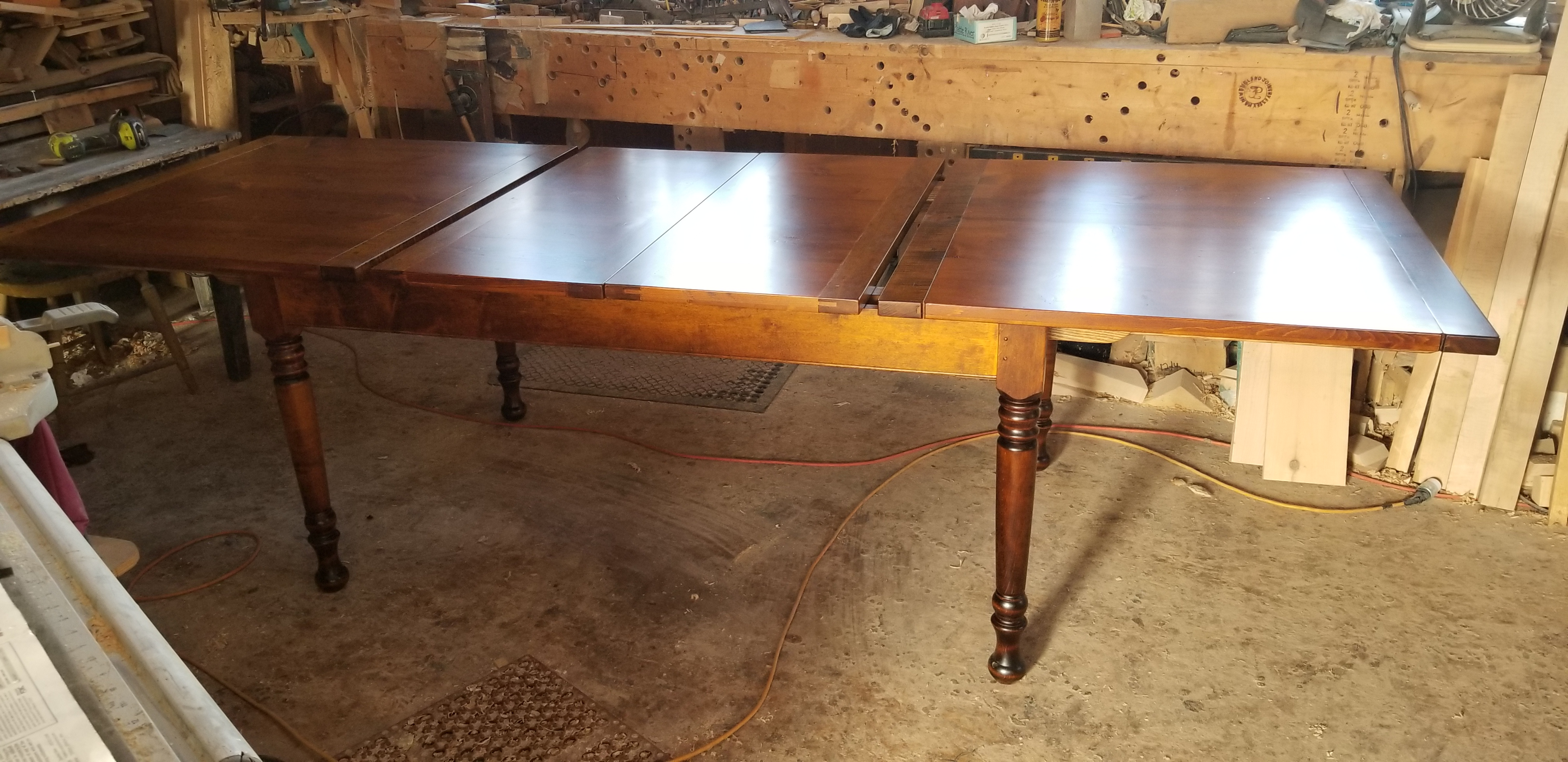 6ft Center-leaf table
