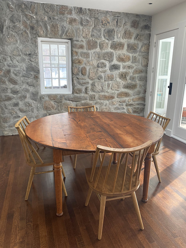 Reclaimed Pine top table