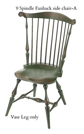 9 Spindle Fan Back Chair -A