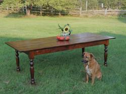 Reclaimed Pine top farm table #5