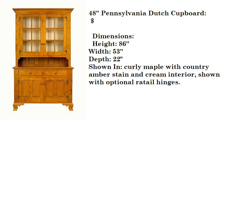48' inch Pennsylvania Dutch Cupboard