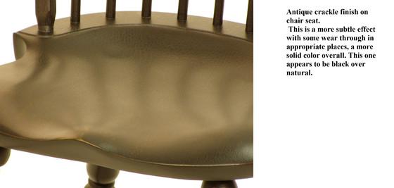 Bowback saddle seat close up on detail