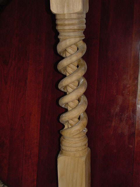 spiral newel post