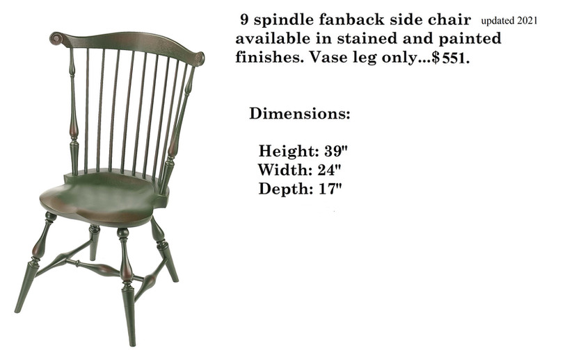 9 Spindle Fan Back Chair