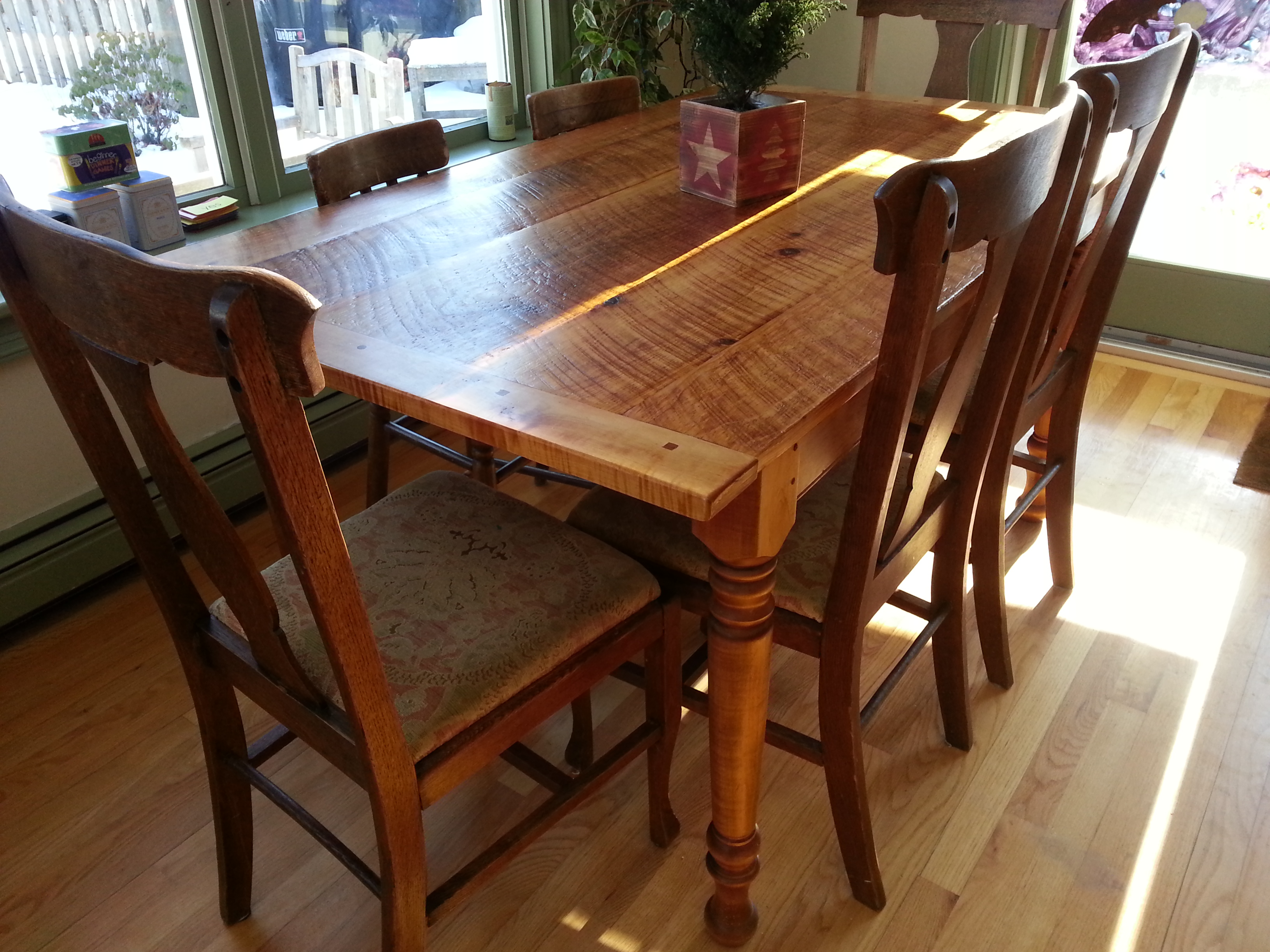 Rustic Pine farm table # 3B