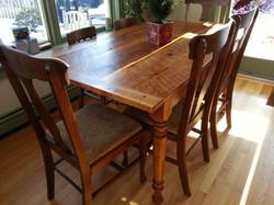 Rustic Pine farm table # 3B