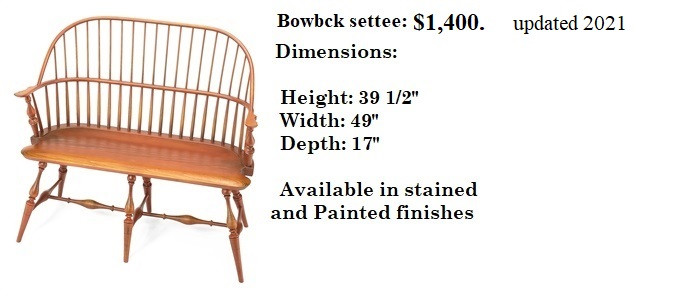 44 inch bowback settee.