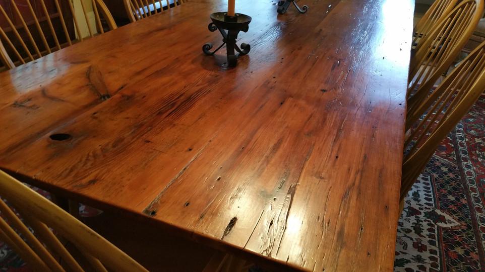 Natural top table - Reclaimed Fir