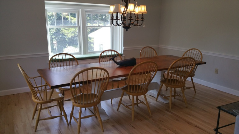 Handmade Trestle tables by New England J