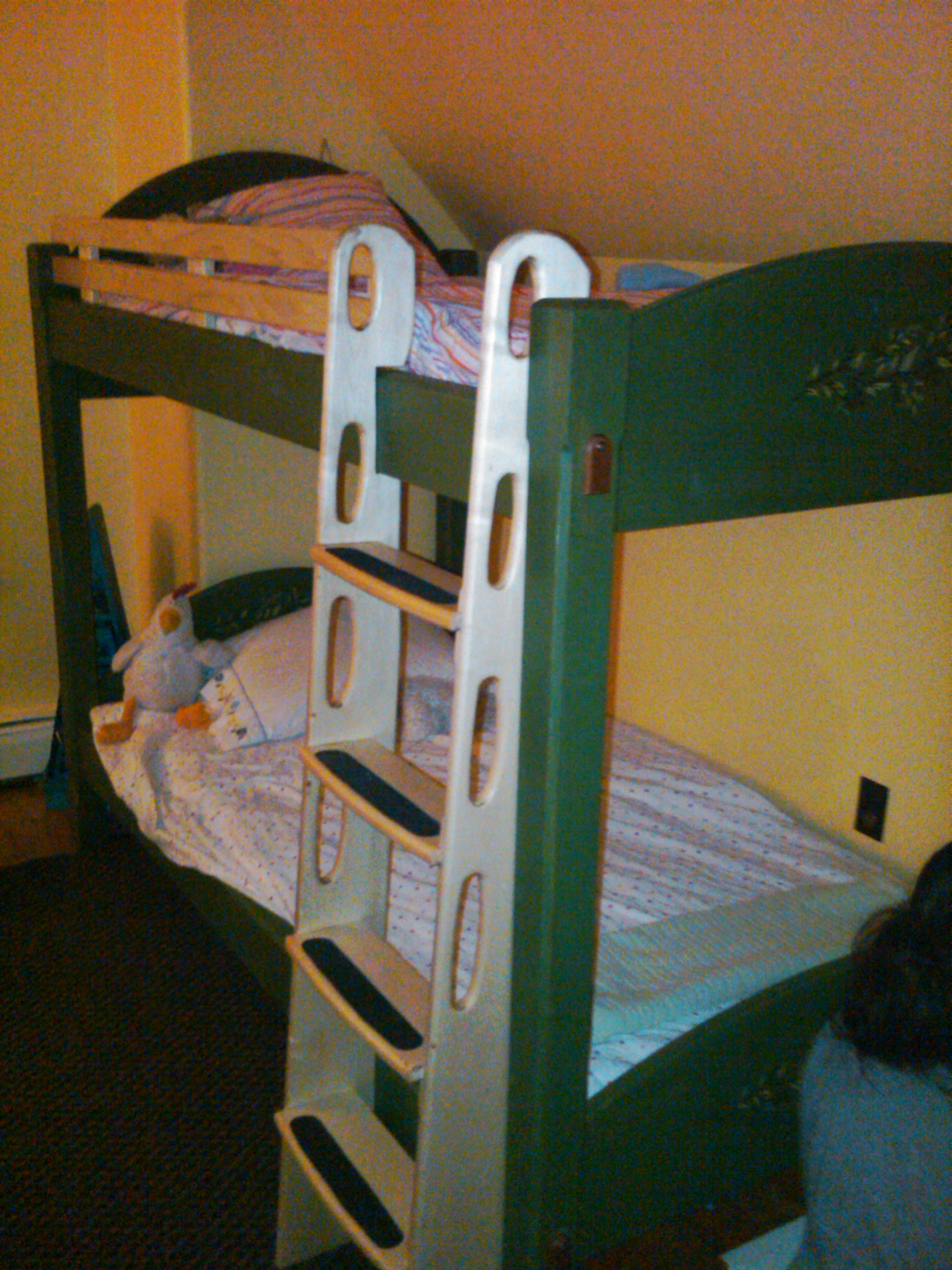 Milk painted bunk beds